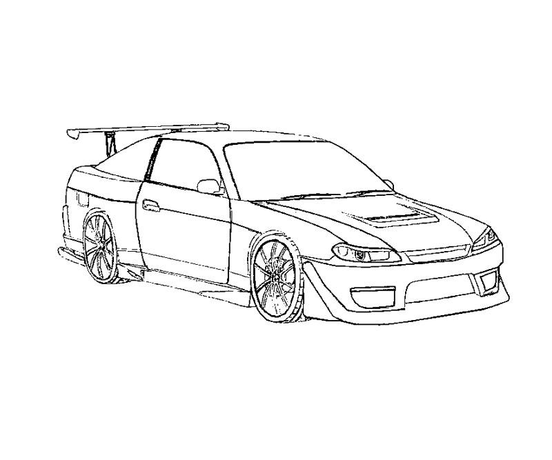ausmalbilder rennauto kostenlos - zeichnen und färben