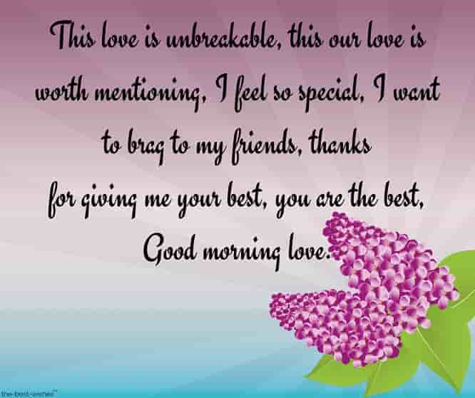 best good morning love letter for her