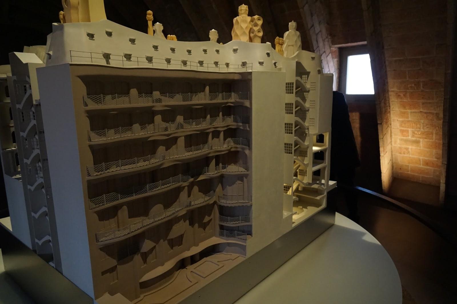 カサ・ミラ(Casa Milà)の模型(裏)