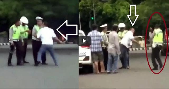 sopir taksi pukul polisi