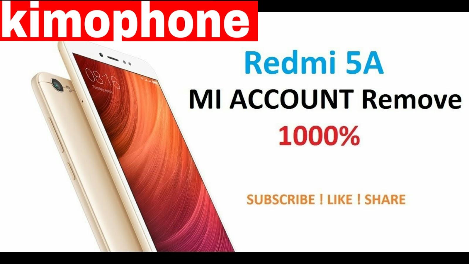 Redmi 5A Mi Account Remove All Miui 9 Mi Account Bypass withe