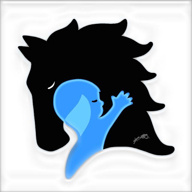 Logomarca criada pelo Desenhista Marcelo Lopes de Lopes para a Equoterapia abraço forte