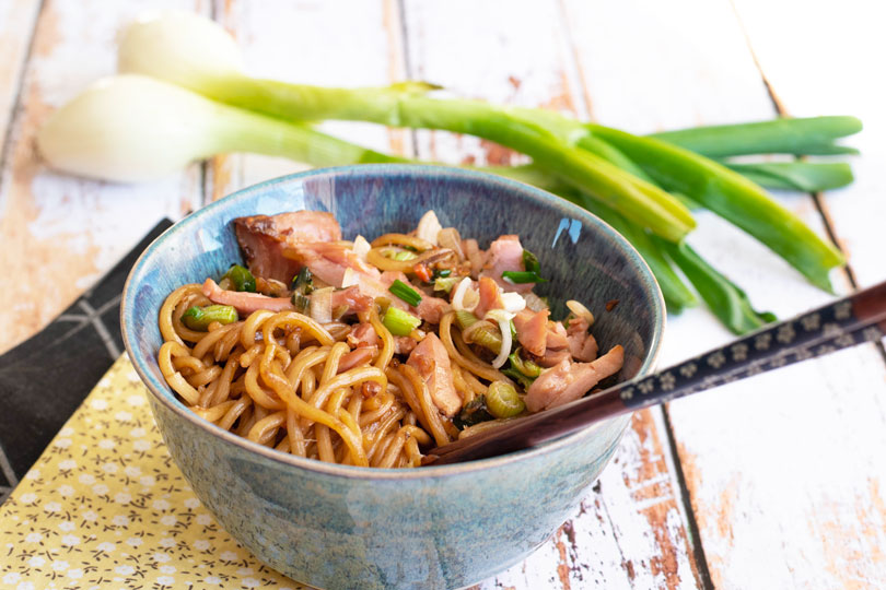 recette Udons au thon et gingembre