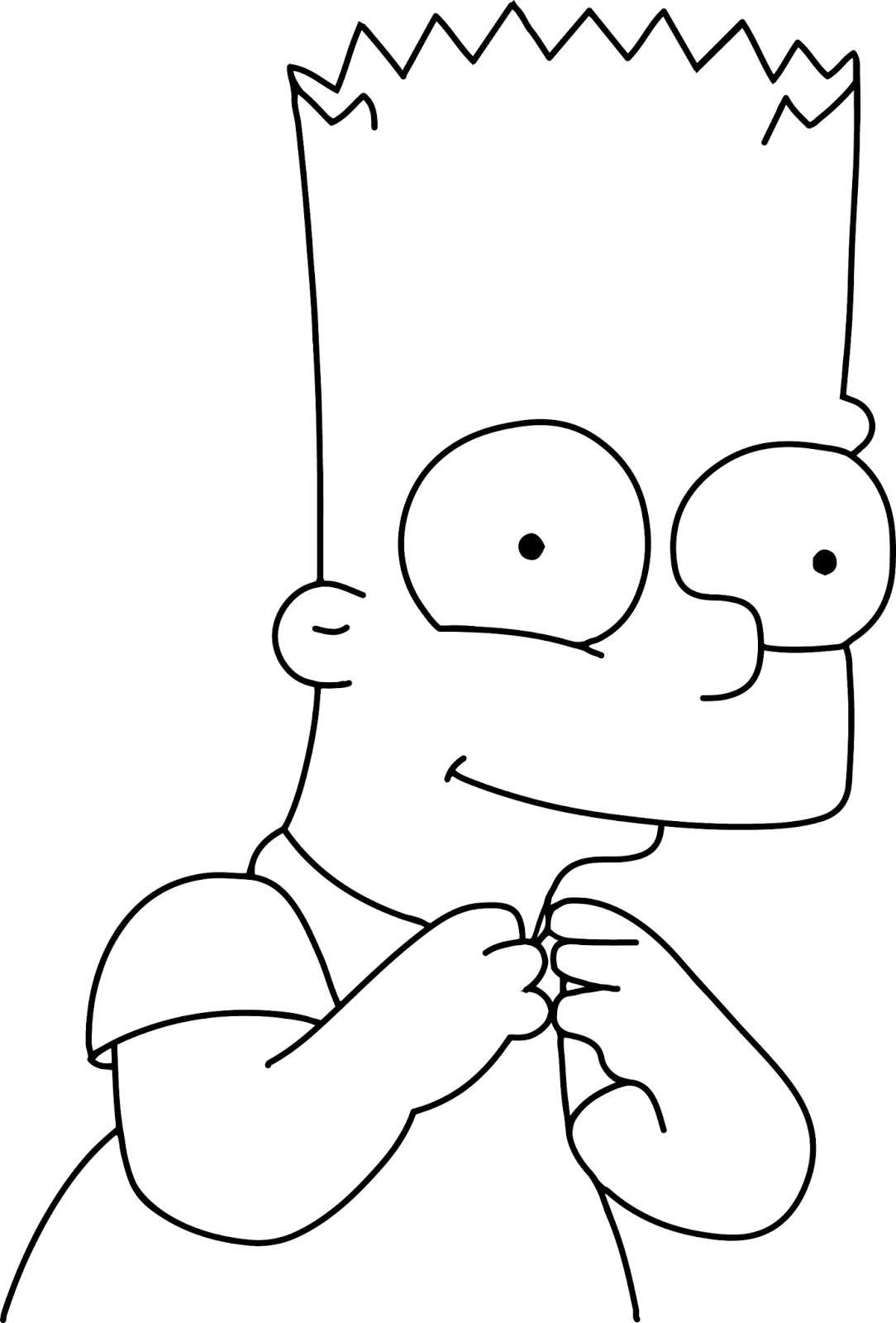 para colorear originales original coloring pages the simpsons bart