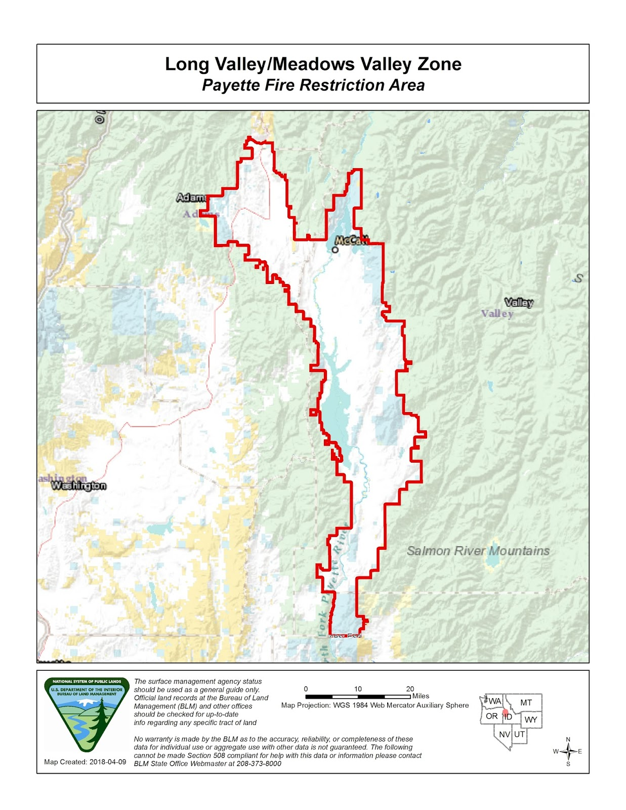 Idaho Fire Information Payette Fire Restrictions Area