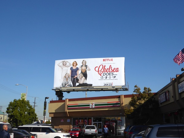Chelsea Does docuseries billboard