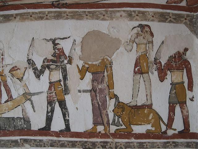 Paintings from the tomb of Petosiris at Muzawaka (XXXIV)