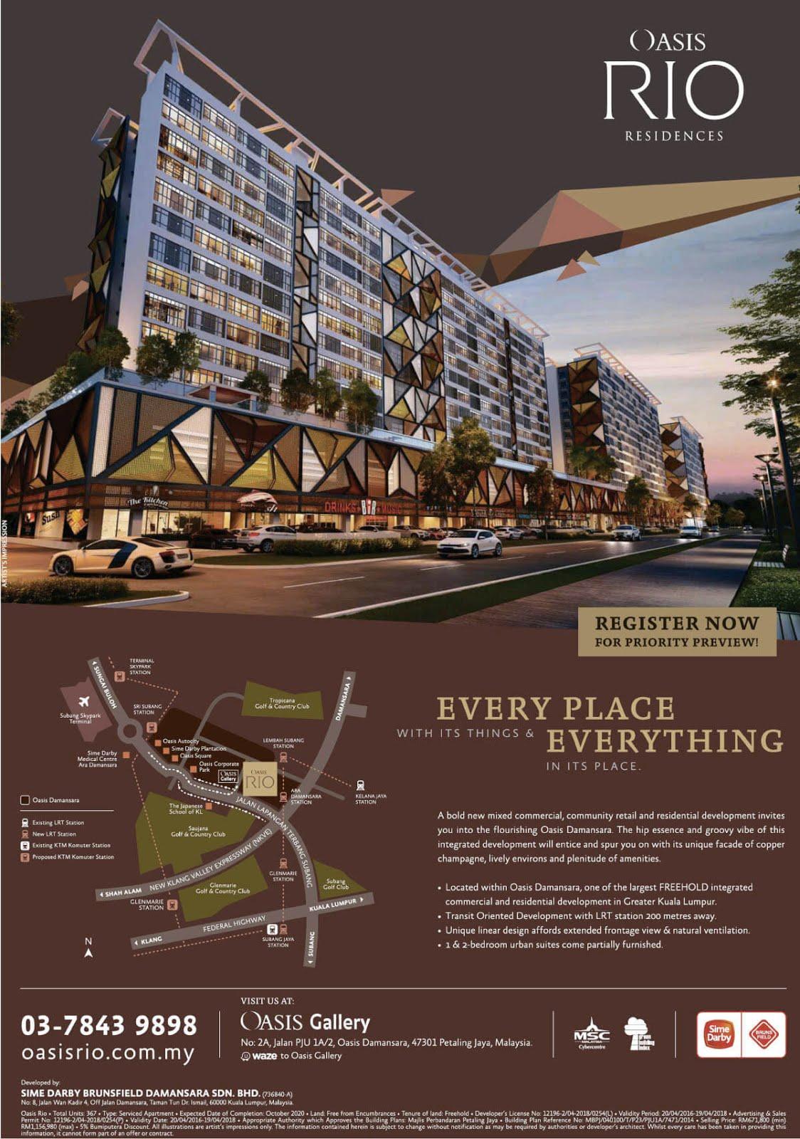 OASIS RIO Residences Serviced Apartment Brochure
