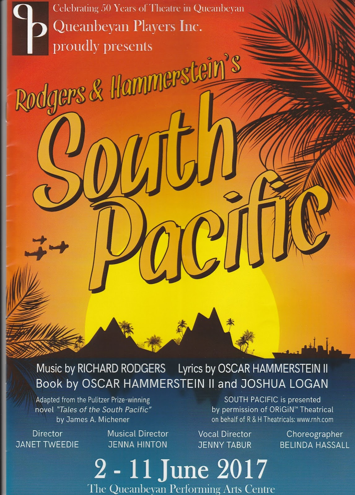 Canberra Critics Circle SOUTH PACIFIC - Tales of the south pacific