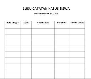 download contoh format buku catatan kasus siswa terbaru