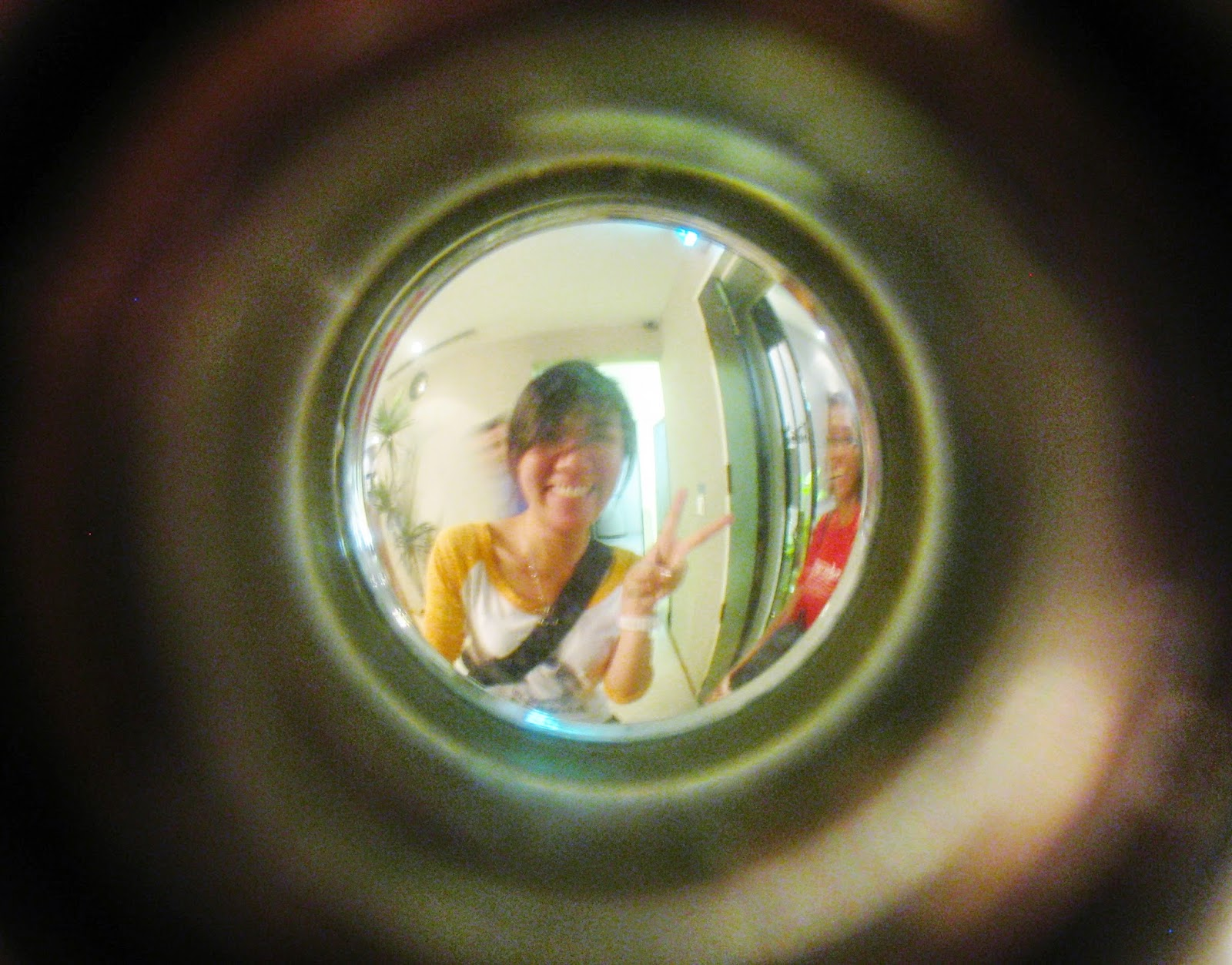 funny door peephole picture