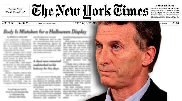 The New York Times: ''El de Macri es el mayor caso de corrupción mundial''