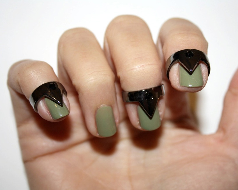 Metal Jewelry For The Tips Of Your Fingers Nail Rings By GWAAN
