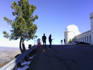 The Low-Key Hillclimb finish line at Lick Observatory, Mt. Hamilton, San Jose, California