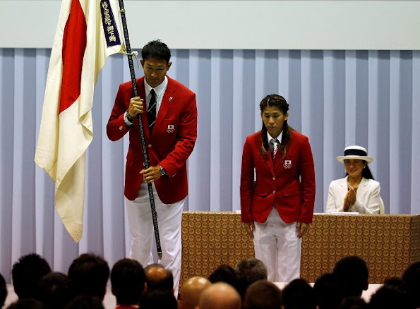 Crown Prince Naruhito and Crown Princess Masako attend a event for for Rio 2016 Olympics