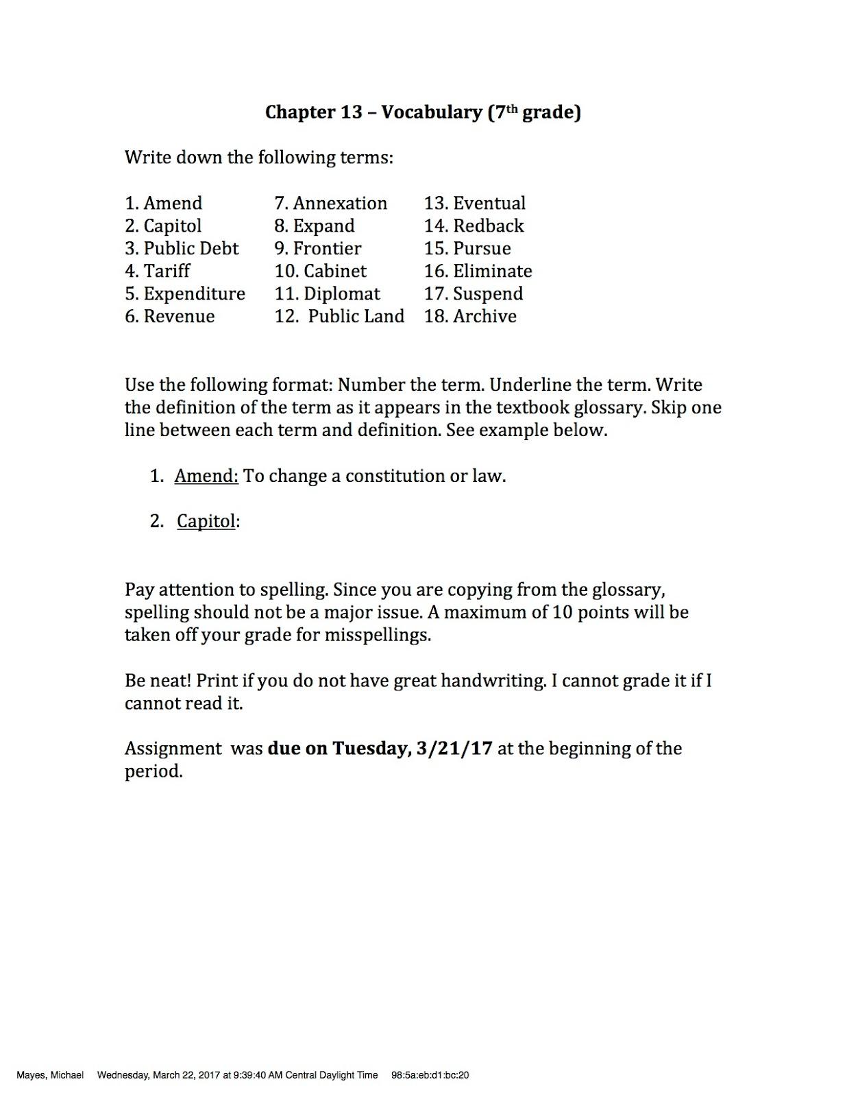 7th Grade Texas History Worksheets