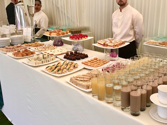 Afternoon tea selection at Holyrood Palace, Royal Garden Party