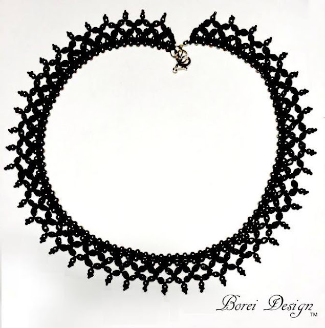 "How to make the beautiful ""Nuit Noire"" necklace using seed beads."