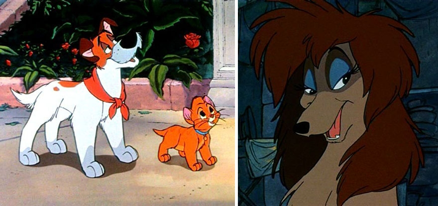 17-Oliver-And-Company-Alaina-Bastian-s0alaina-Drawings-of-Disney-Animals-with-a-Second-Life-as-Humans