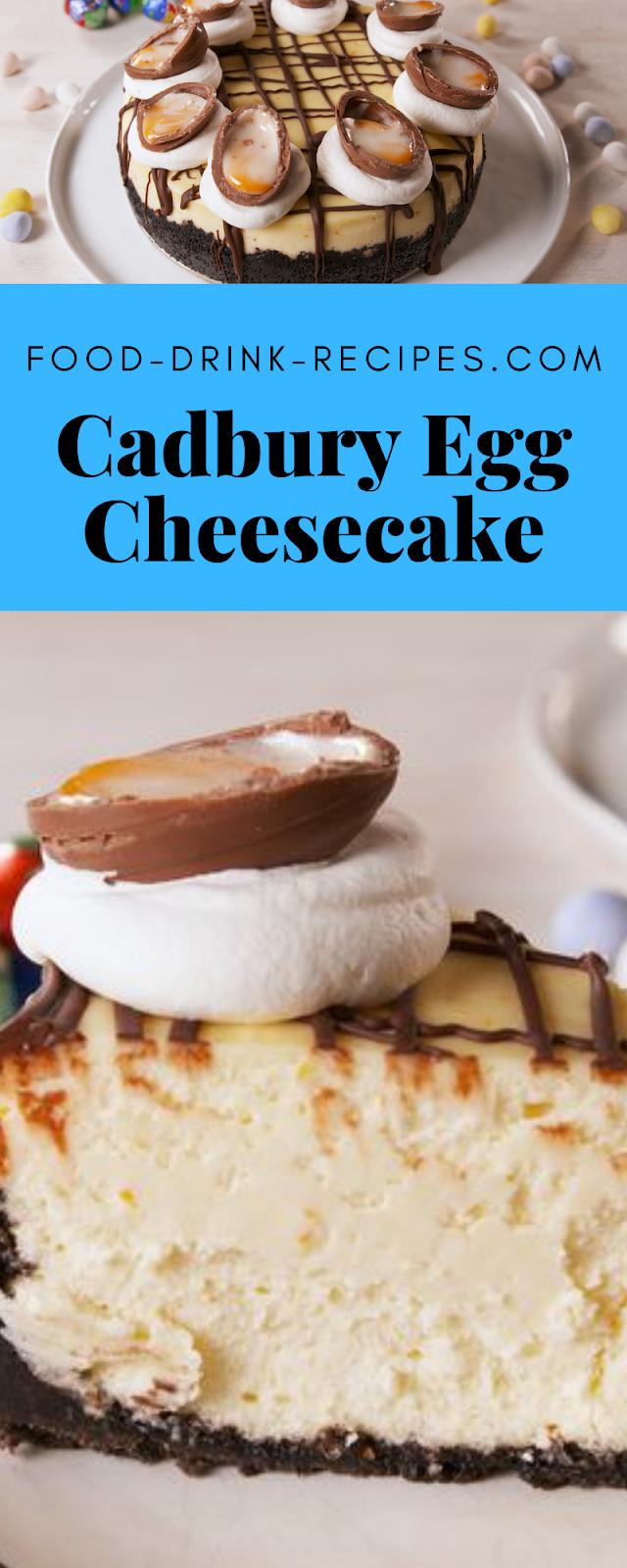 Cadbury Egg Cheesecake - food-drink-recipes.com