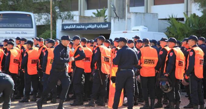 4000 شرطي لتأمين المباراة النهائية بين الوداد والأهلي