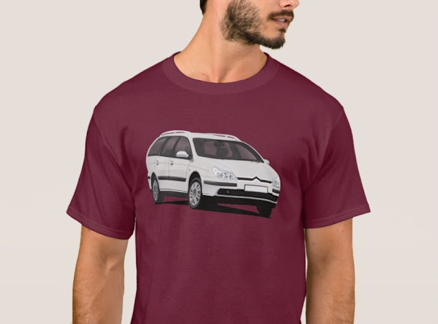 Citroën C5 Break t-shirts white