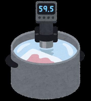 低温調理のイラスト