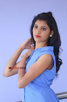 Telugu Actress Mounika UHD Stills in Blue Short Dress at Tik Tak Telugu Movie Audio Launch .COM 0039.JPG