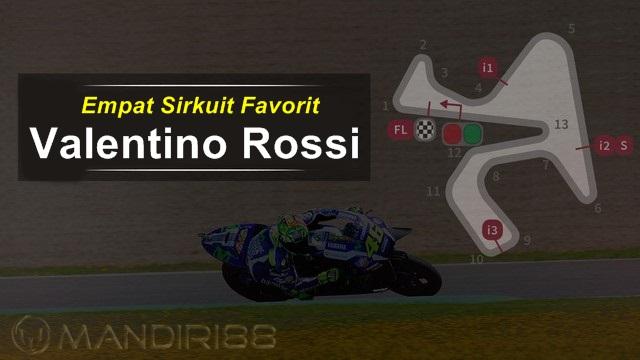 Empat Sirkuit Favorit Rossi di MotoGP