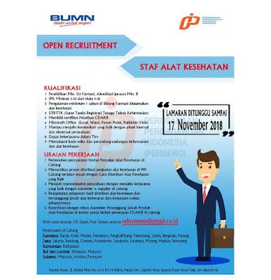 Rekrutmen Staf PT Perusahaan Perdagangan Indonesia (Persero) | Lowongan BUMN