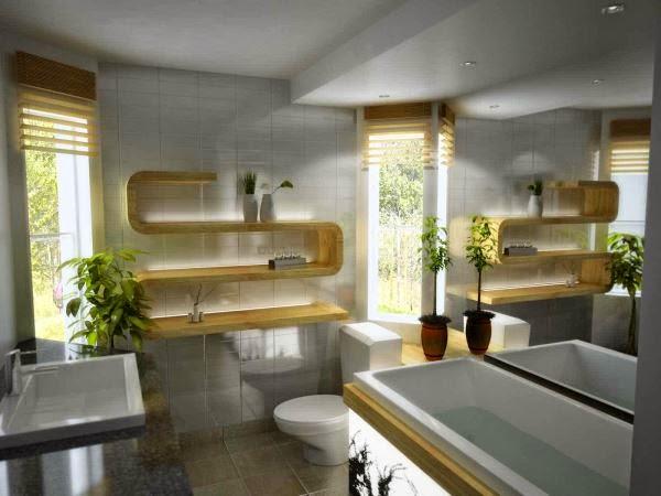 Gambar kamar mandi mewah yang nyaman dan elegan