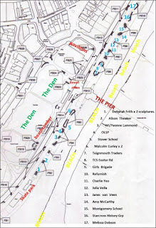 Map of Teignmouth Sculpture TRAIL 2018