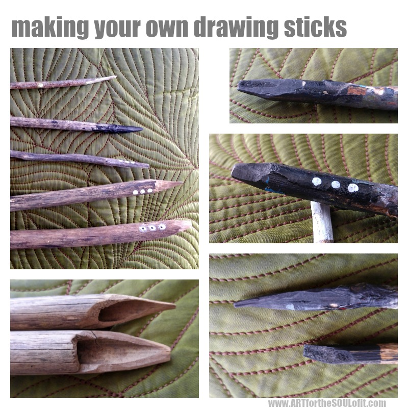 make your own diy drawing sticks