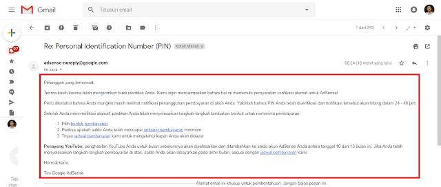 Kecewa Tiga Kali Pengajuan PIN AdSense Tidak Datang, Inilah Solusinya !