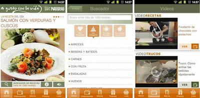 Aplicación Nestlé Cocina