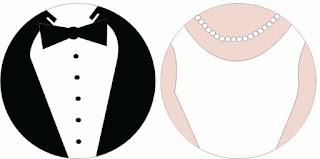 Novio y Novia: Etiquetas o Toppers para Cupcakes para Imprimir Gratis y Moldes en Blanco.