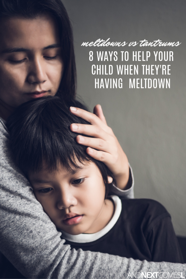 What is a meltdown? How is it different from a tantrum?
