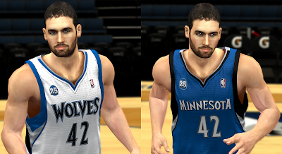 NBA 2K14 Minnesota Timberwolves Jerseys Mod (25 Season)