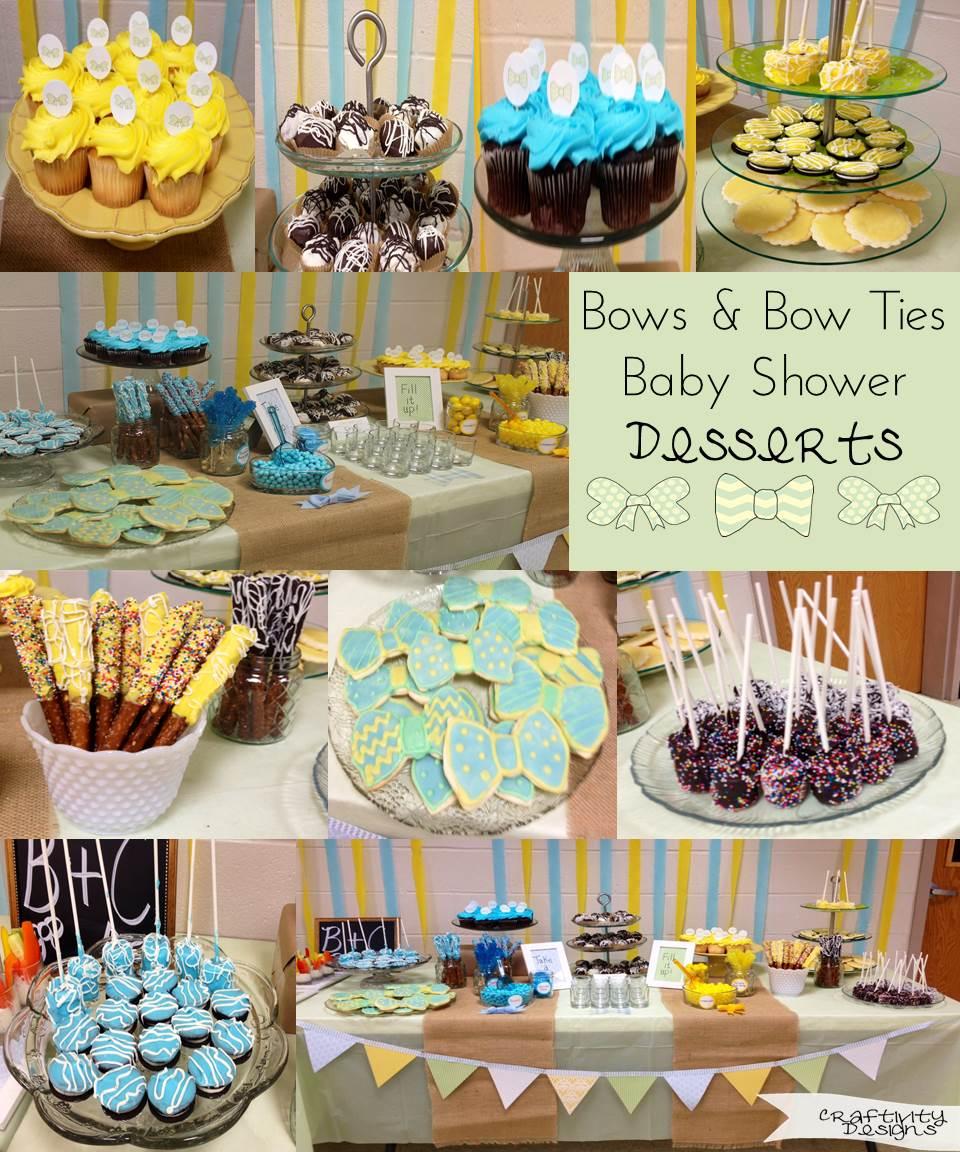 Bow tie baby shower ideas