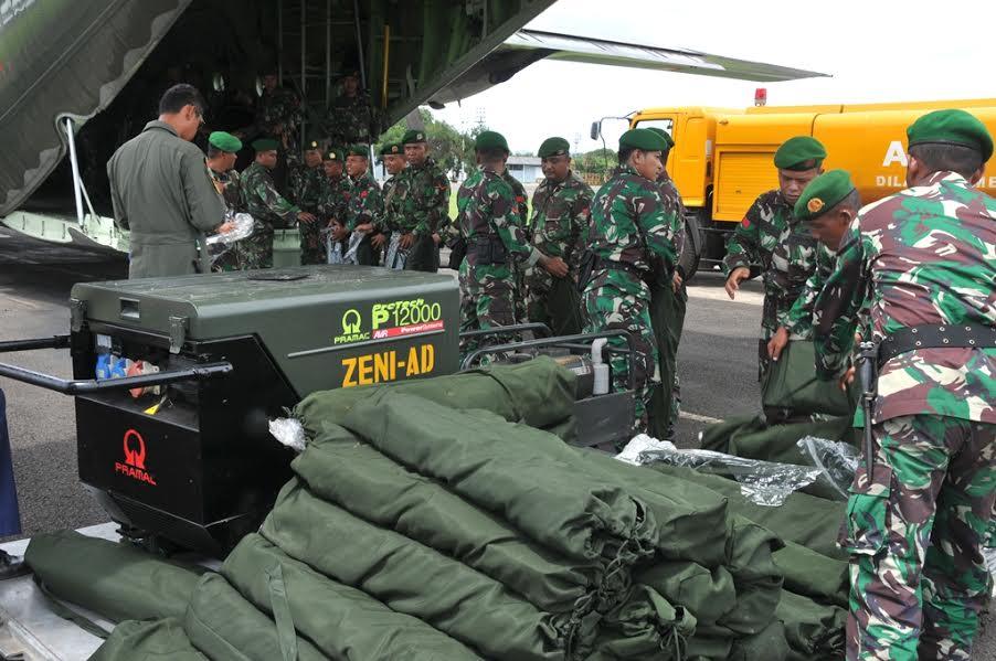 TNI Kirim 300 Prajurit Zeni ke Provinsi NAD