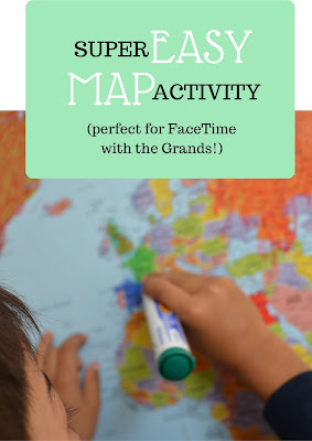 The Practical Mom: Super Easy Map Activity (for Facetime with grandparents!) (Practical Mondays #13)