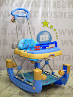 Family FB2017LD Car Melody Rocker Baby Walker Blue