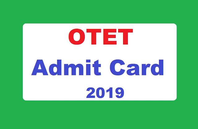OTET Admit Card 2019