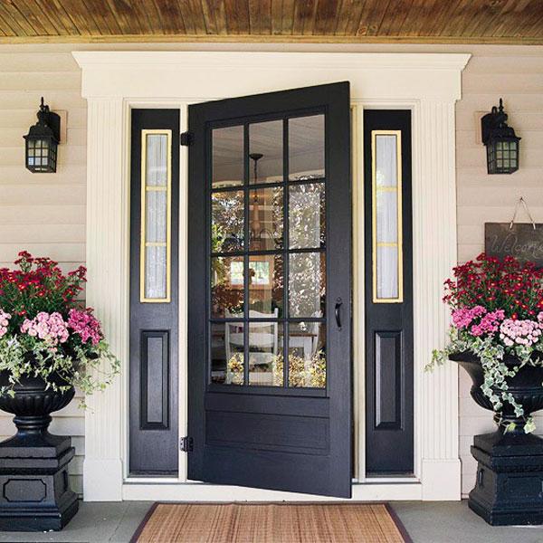 Hogares frescos 30 dise os inspiradores para la entrada for Puertas de entrada de casas modernas