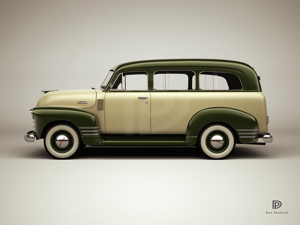 1951 chevrolet suburban panel van