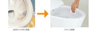 LIXIL 便器 サティスS スマートフチ形状