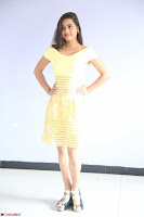 Shipra gaur in V Neck short Yellow Dress ~  081.JPG