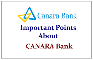 Important Points to know about Canara Bank