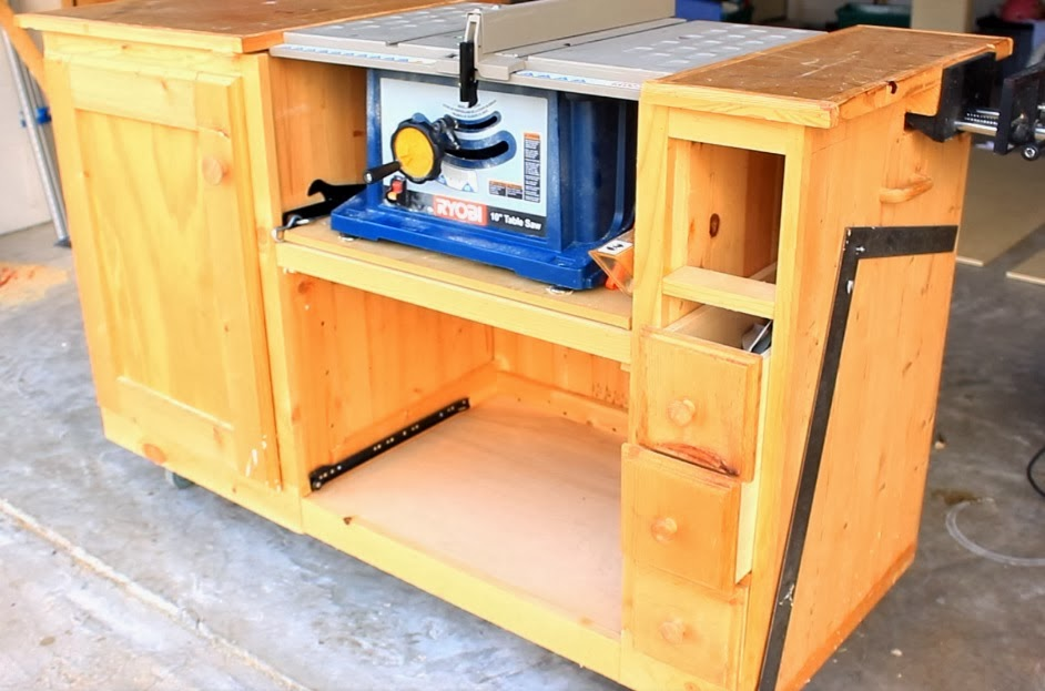 Diy Table Saw Workstation Cut List And Materials