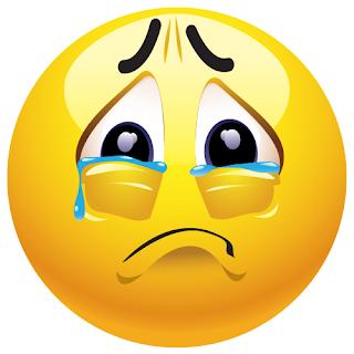 A crying sad emoji